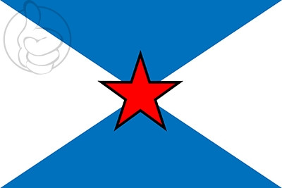 Bandera Pontevedra con estrella
