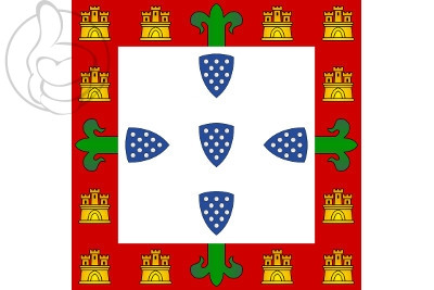 Drapeaux Portugal (1385 a 1475 y 1479 a 1485)