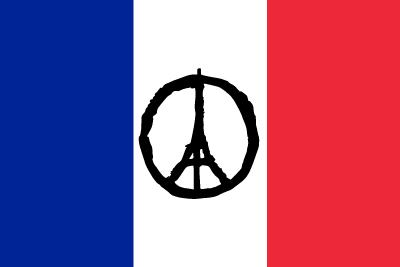 Bandera France avec Tour Eiffel