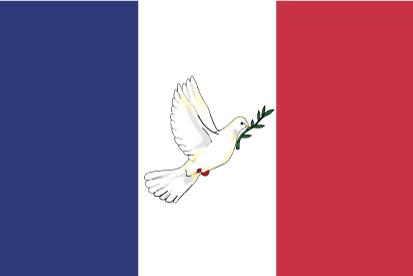 Bandera Francia con Paloma paz