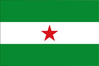 Bandera Andalucía estrellada