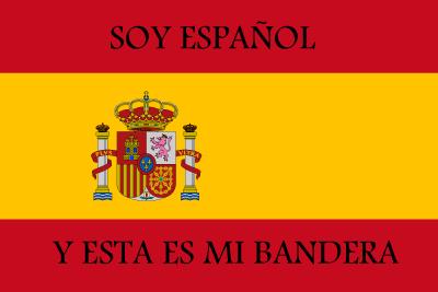 Bandera Soy Español y esta es mi bandera