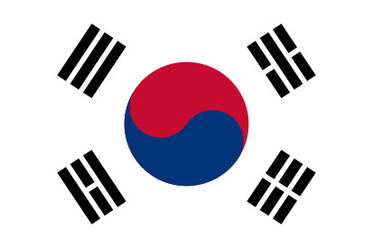 Bandera Coreia do Sul