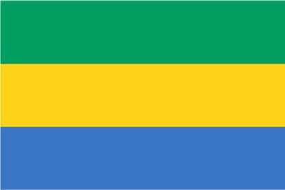 Bandera Gabón