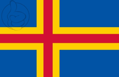 Bandera Aland Islands