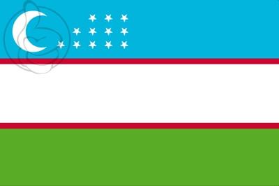 Bandera Uzbekistán