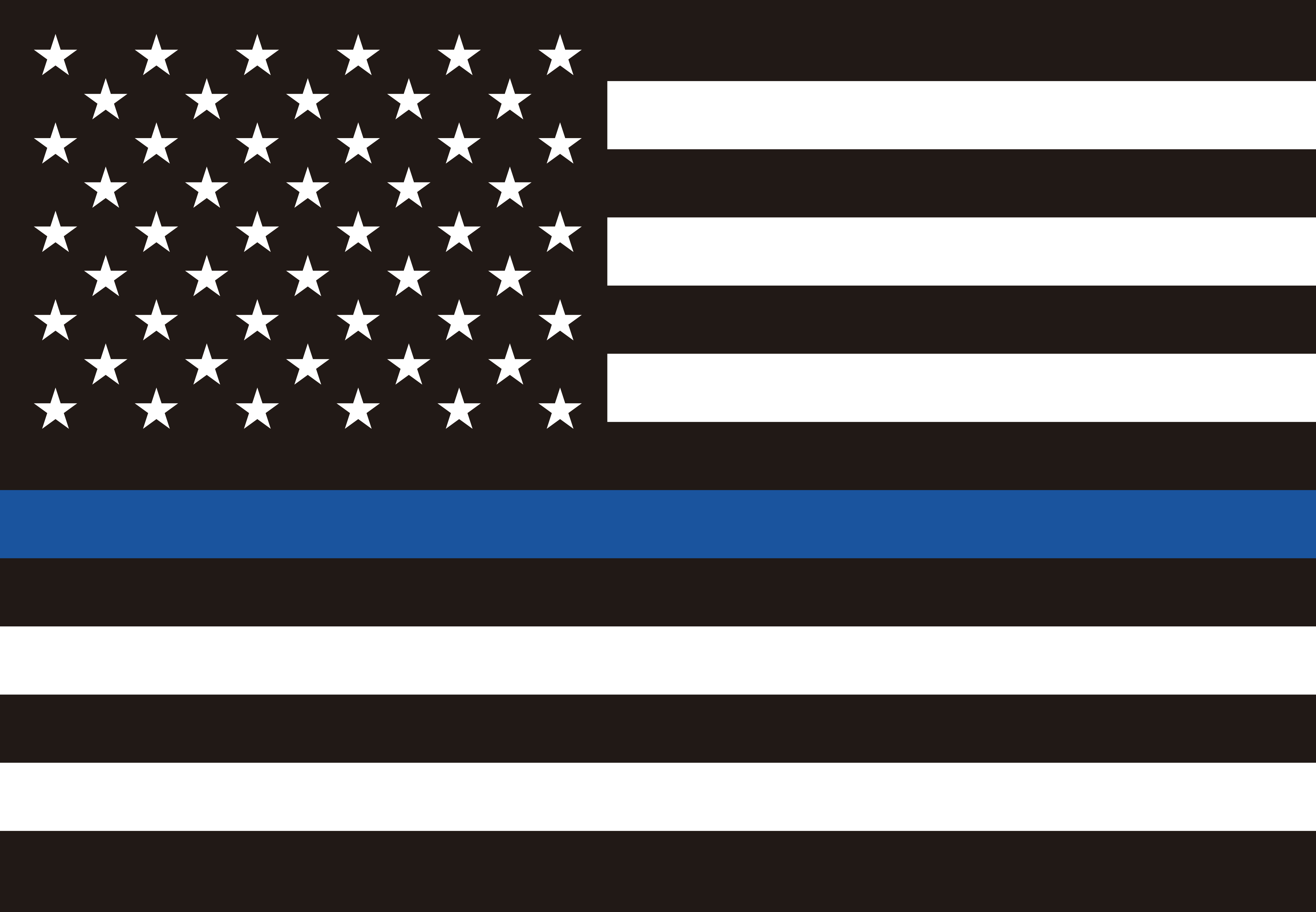 Bandera Americana con línea azul delgada policía G128