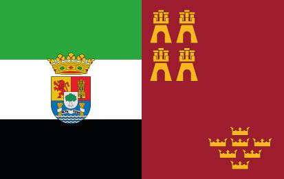 Bandera de Extremadura Murcia