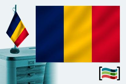 Bandera de Chad sobremesa bordada