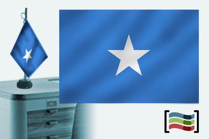 Bandera de Somalia sobremesa bordada