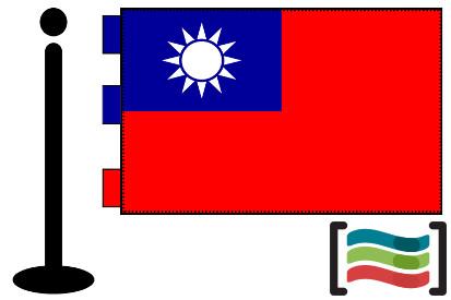 Bandera de Taiwan sobremesa bordada