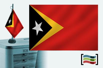 Bandera de Timor Oriental sobremesa bordada