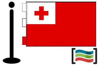 Bandera de Tonga sobremesa bordada