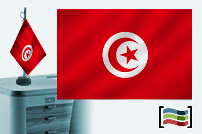 Bandera de Túnez sobremesa bordada