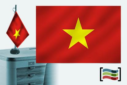 Bandera de Vietnan sobremesa bordada