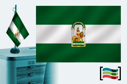 Bandera de Andalucía sobremesa bordada