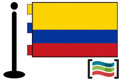 Bandera de Colombia s/e sobremesa bordada