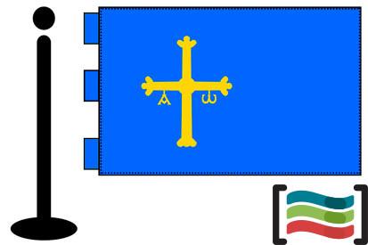 Bandera de Asturias sobremesa bordada