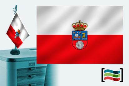 Bandera de Cantabria sobremesa bordada