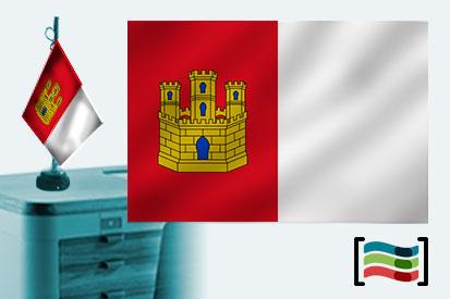 Bandera de Castilla La Mancha sobremesa bordada