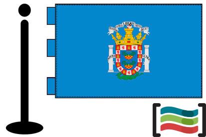Bandera de Melilla sobremesa bordada