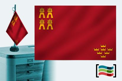 Bandera de Región de Murcia sobremesa bordada