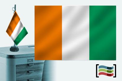 Bandera de Costa de Marfil sobremesa bordada