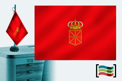 Bandera de Navarra sobremesa bordada