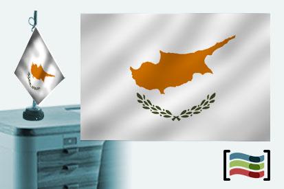 Bandera de Chipre sobremesa bordada