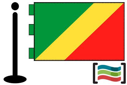 Bandera de Congo sobremesa bordada