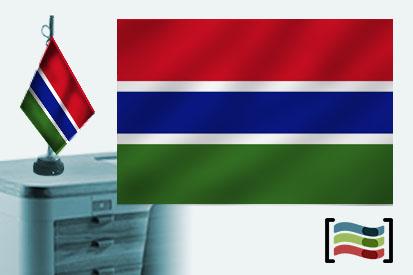 Bandera de Gambia sobremesa bordada