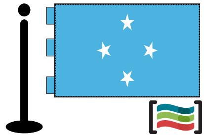 Bandera de Micronesia sobremesa bordada