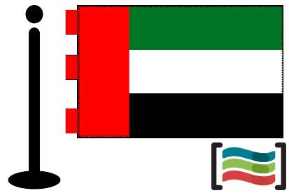 Bandera de Emiratos Arabes Unidos sobremesa bordada