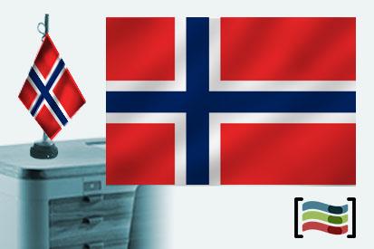 Bandera de Noruega sobremesa bordada