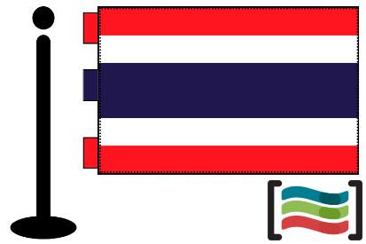 Bandera de Tailandia sobremesa bordada