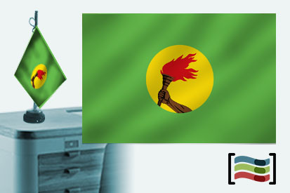 Bandera de Zaire sobremesa bordada