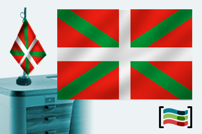 Bandera de País Vasco sobremesa bordada