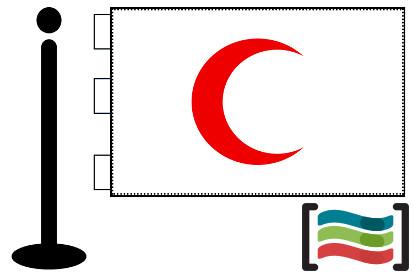 Bandera de Media Luna Roja sobremesa bordada