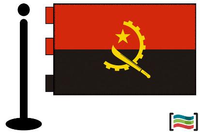 Bandera de Angola sobremesa bordada
