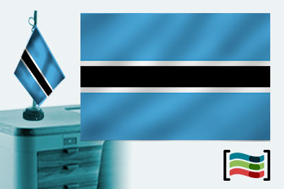Bandera de Botswana sobremesa bordada