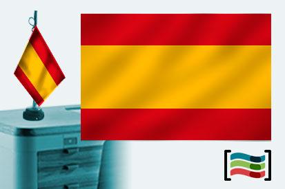 Bandera de España sin escudo sobremesa bordada
