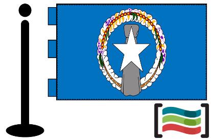 Bandera de Marianas (islas) sobremesa bordada