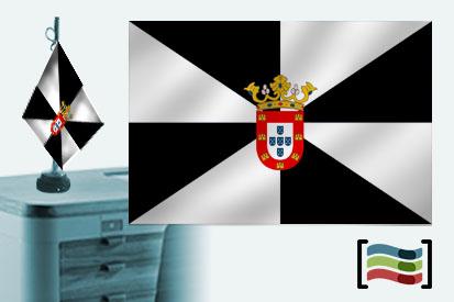 Bandera de Ceuta sobremesa bordada