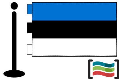 Bandera de Estonia sobremesa bordada