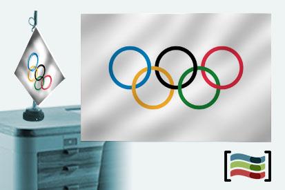 Bandera Olimpica sobremesa bordada