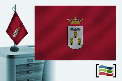 Bandera de Albacete sobremesa bordada