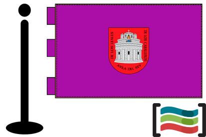 Bandera de Ávila sobremesa bordada