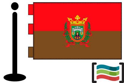 Bandera de Burgos sobremesa bordada