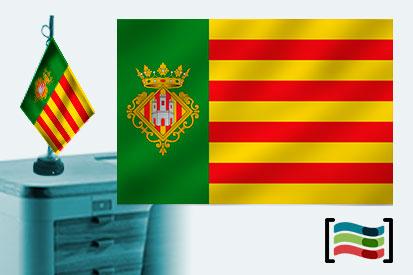 Bandera de Castellón sobremesa bordada