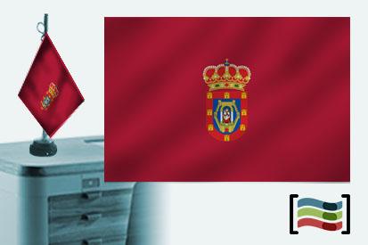Bandera de Ciudad Real sobremesa bordada